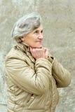 Senior woman walking Stock Photo