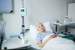 Senior woman in ward Royalty Free Stock Photo