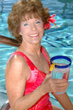 Senior woman with water Stock Photos
