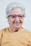 Senior woman wearing eyeglasses Stock Image
