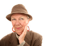 Senior Woman Wearing Male Clothing Royalty Free Stock Photography