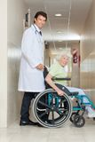 Senior Woman In a Wheel Chair Stock Photos