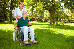 Senior woman in wheelchair Royalty Free Stock Image