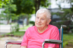 Senior Woman in Wheelchair Royalty Free Stock Photo