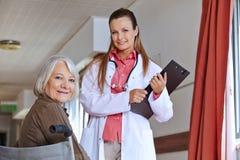 Senior woman in wheelchair Stock Photos