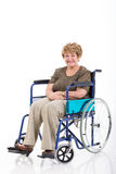 Senior woman wheelchair Stock Photography