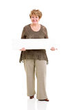 Senior woman white board Stock Image