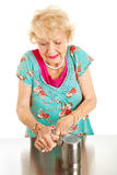Senior Woman With Arthritis Pain Royalty Free Stock Images
