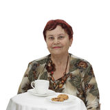 Senior Woman With Cup Of Tea Royalty Free Stock Photography
