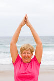 Senior woman workout Royalty Free Stock Image