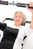 Senior woman at workout Stock Photo