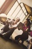 Senior woman workout in rehabilitation center. Stock Photography