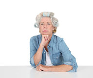 Senior woman wuth funny look Stock Image