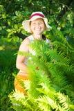 Senior woman in  yard gardening Royalty Free Stock Images
