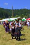 Senior women in Bulgarian authentic dresses Stock Photos