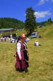 Senior women in Bulgarian authentic dresses Stock Photography
