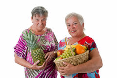 Senior women with fruit Stock Image