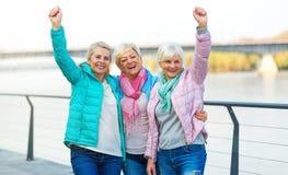 Senior women gesturing Stock Images