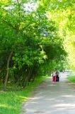 Senior women park walk Stock Photo