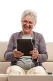 Senior women with tablet Royalty Free Stock Images