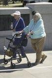 Senior women veterans Stock Photo