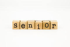 Senior wording isolate on white background Royalty Free Stock Photography