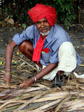 Senior Worker. An senior worker with traditional clothes in India Royalty Free Stock Images