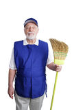 Senior Worker - At Attention Royalty Free Stock Images