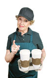 Senior Worker - Confrontation Stock Photography