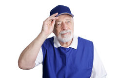 Senior Worker - Discount Store Stock Image