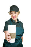 Senior Worker - Enthusiasm Stock Image