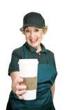 Senior Worker - Enthusiasm Stock Image