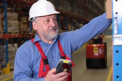 Senior worker in factory Stock Photography