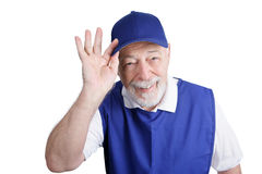 Senior Worker - Greeter Royalty Free Stock Photography