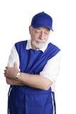 Senior Worker - Sad & Tired Royalty Free Stock Photos