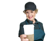 Senior Worker - Service Royalty Free Stock Photo
