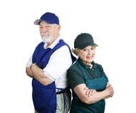 Senior Working Couple Stock Photography
