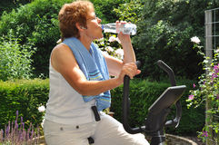 Senior working out Stock Photo
