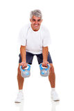 Senior working out Royalty Free Stock Photo