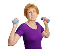 Senior Workout stock image