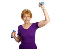 Senior Workout - Fitness Fun Royalty Free Stock Photos