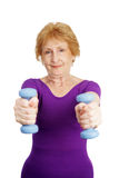 Senior Workout - Freeweights Stock Images