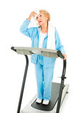 Senior Workout - Hot and Tired stock photography