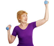 Senior Workout - Power Stock Image