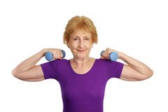 Senior Workout - Strength Royalty Free Stock Image