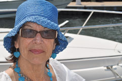 Senior on a yatch Stock Photography
