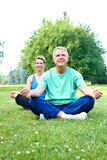Senior yoga Stock Photos