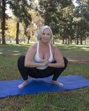 Senior Yoga Royalty Free Stock Photography