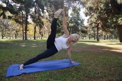 Senior Yoga Royalty Free Stock Photos