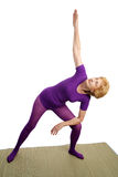 Senior Yoga - Modified Triangl Royalty Free Stock Photo